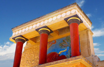Knossos arcaeological site, Heraklion, crete