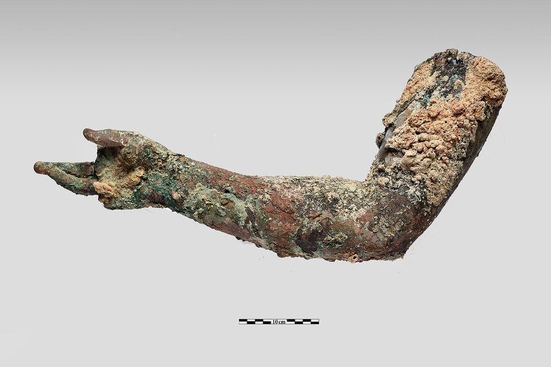 Found: A Giant Bronze Arm From the Antikythera Shipwreck